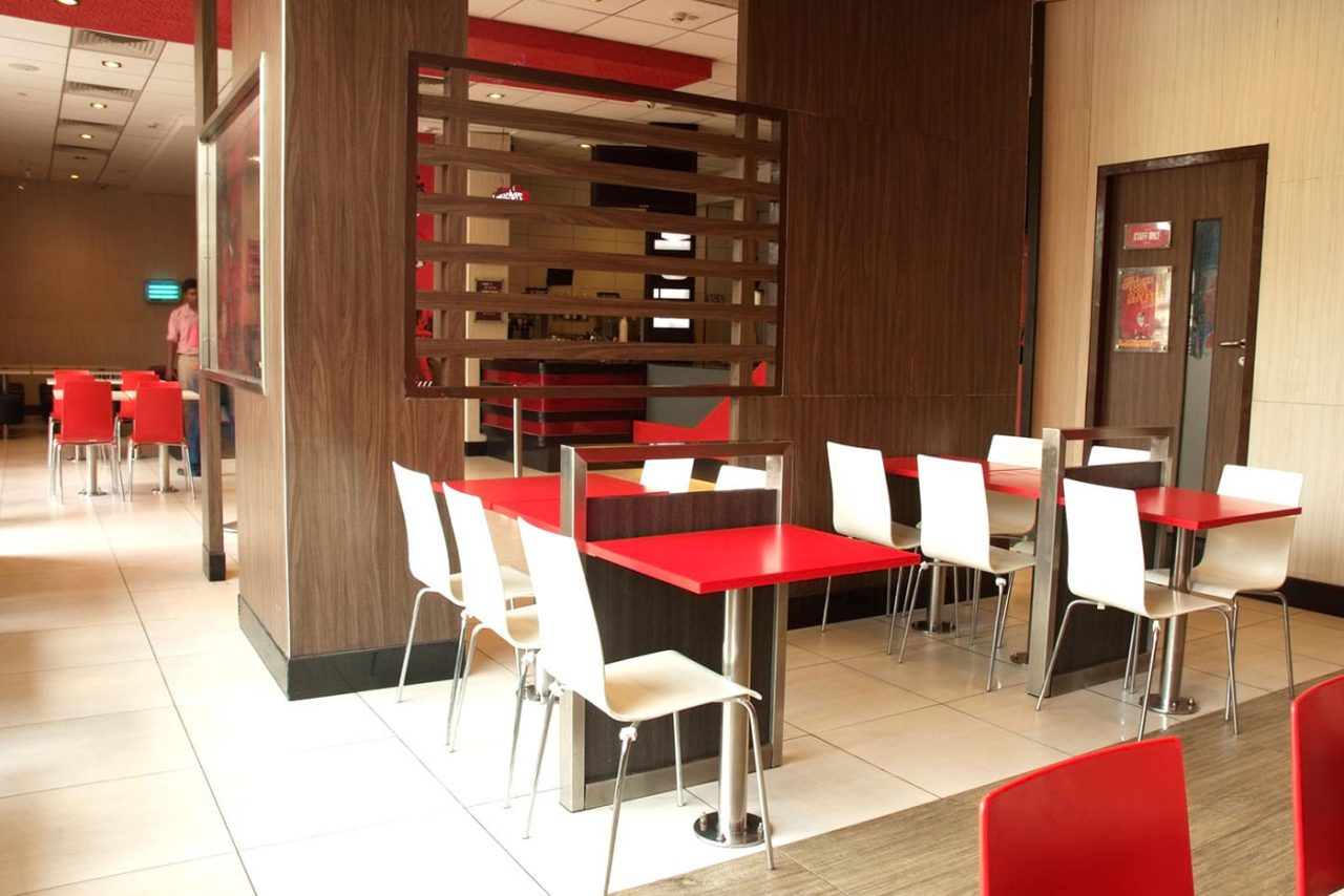 Quick Service Restaurants Furniture Setup For Kfc Chennai India