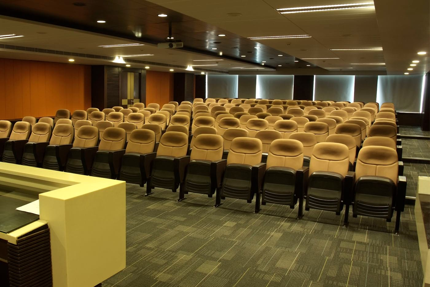 Front close up view of auditorium of Vellore Institute of Technology